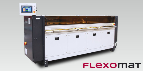 Flexomat - Drukarka fleksograficzna do tektury. Nadruk na formatkach o maksymalnej szerokości aż do 2400mm!